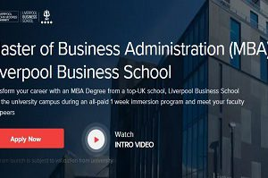 Master of Business Administration (MBA) Liverpool Business School